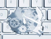 Clockwork computer Stock Photography