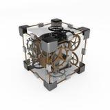 Clockwork Cube Royalty Free Stock Photos