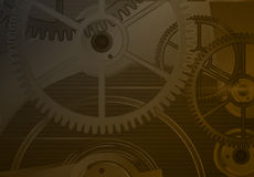 Clockwork on a dark background.Vector Royalty Free Stock Photography