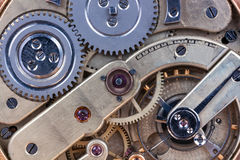 Clockwork. Details clockwork old clock closeup royalty free stock photos