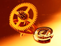 clockwork e przekładni złocista poczta stara Zdjęcie Royalty Free