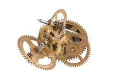 Clockwork gears. Isolated on white background Royalty Free Stock Photography