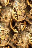 Clockwork gears abstract. Vintage watch parts as abstract Stock Photography