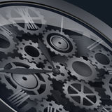 Clockwork with gears Stock Photo