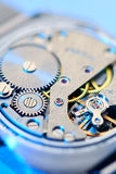 Clockwork gears inside Stock Images