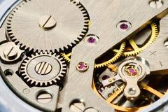 Clockwork gears inside Stock Image