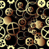 Clockwork gears pattern Stock Photos