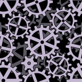Clockwork gears seamless background pattern Royalty Free Stock Images