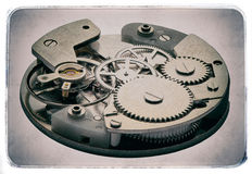 Clockwork with gears in vintage style Royalty Free Stock Photos