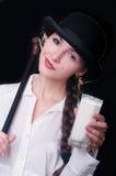 Clockwork Girl Stock Photo