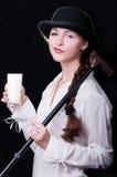 Clockwork Girl Royalty Free Stock Photo