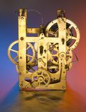 Clockwork in gold Royalty Free Stock Image