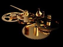Clockwork Gold Stock Photography