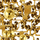 Clockwork gold seamless Royalty Free Stock Photos