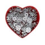 Clockwork heart silver Royalty Free Stock Photography