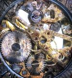 Clockwork inside Royalty Free Stock Image