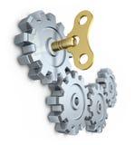 Clockwork key Stock Photos