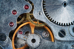 Clockwork macro Royalty Free Stock Photography