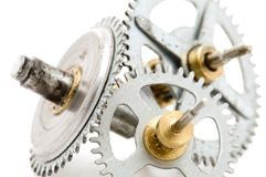 Clockwork macro Stock Photo