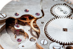 Clockwork, macro-shot. Royalty Free Stock Photo