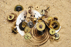 Clockwork mechanism Royalty Free Stock Photo