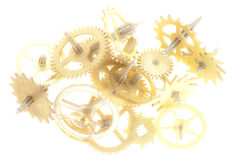 Clockwork mechanism Stock Images