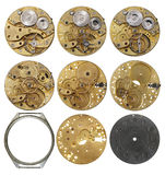 Clockwork mechanism - the various phases dismantling Royalty Free Stock Photo