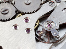 Clockwork mechanisms. Stock Photo