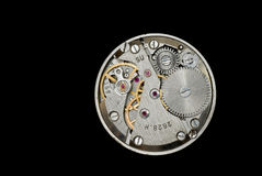 Clockwork from an old Soviet Union watch. Royalty Free Stock Photos