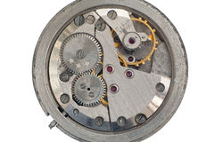 Clockwork from an old Soviet Union watch Stock Images