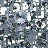 Clockwork silver seamless Royalty Free Stock Photography