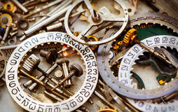 Clockwork spare parts Royalty Free Stock Images