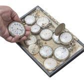 Clockwork stary kieszeniowy zegarek Fotografia Royalty Free