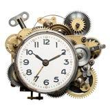 Clockwork. Stylized metal collage of clockwork stock photography
