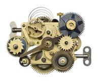 Clockwork. Stylized metal collage of clockwork royalty free stock images