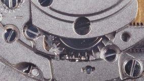 Clockwork of Swiss watches. Macro video of internal mechanism of swiss watches stock video