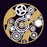 clockwork sylwetka Obrazy Royalty Free