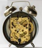 Clockwork vintage  alarm clock. Clockwork old mechanical USSR alarm clock Royalty Free Stock Images