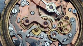 Clockwork. Vintage clockwork in a macro footage stock video