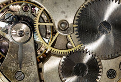 Clockwork vintage mechanical  pocketwatches Royalty Free Stock Photo