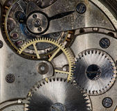Clockwork vintage mechanical  pocketwatches Royalty Free Stock Image