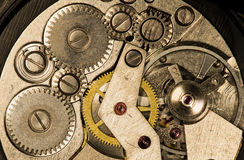 Clockwork vintage mechanical  watches Stock Image