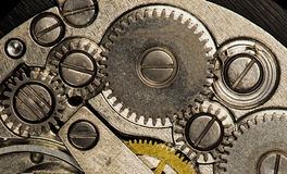 Clockwork vintage mechanical  watches Royalty Free Stock Photography
