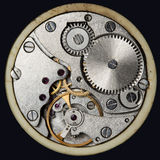 Clockwork vintage mechanical  watches Stock Photography