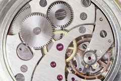 Clockwork of watch. Close up Royalty Free Stock Images