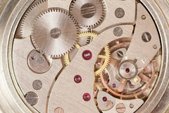 Clockwork of watch. Close up Royalty Free Stock Image