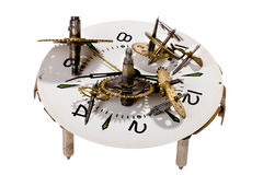 Clockwork on white Royalty Free Stock Photos