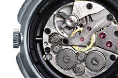 Clockwork of wristwatch Stock Photos