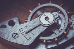 clockwork Zakończenie Stary Zegarowego zegarka mechanizm Zdjęcia Stock