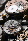 Clockworks. A lot of clock mechanisms Royalty Free Stock Photo